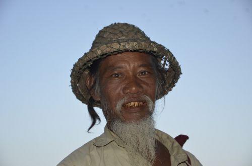 myanmar old man face