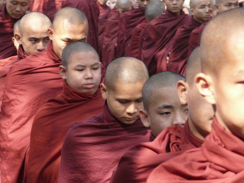 myanmar burma monk