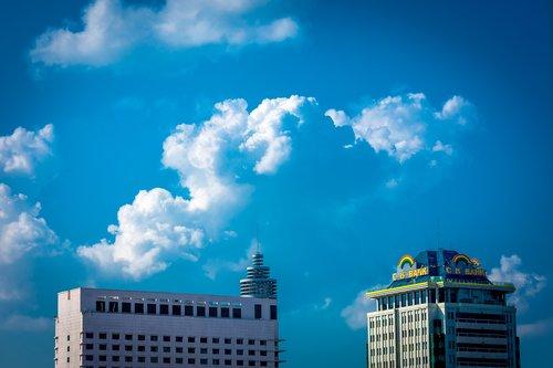 myanmar  building  clouds