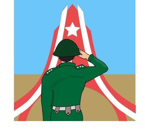 myanmar union army day army solider