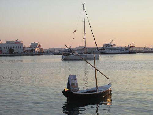 mykonos abendstimmung greece