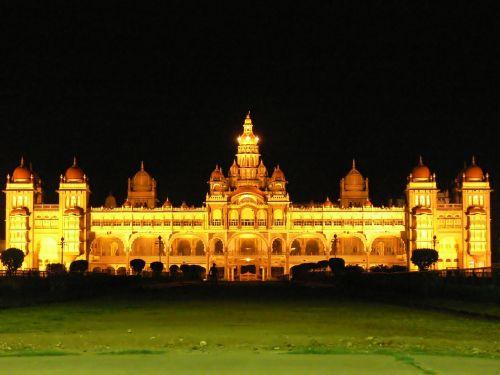 mysore palace architecture illuminated