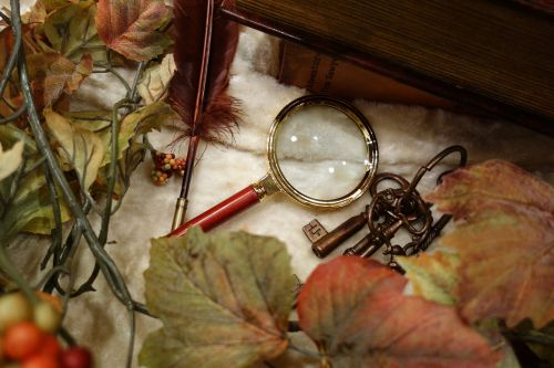 mystery magnifying glass autumn