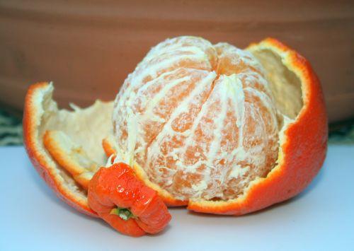Naartjie Fruit Peeled