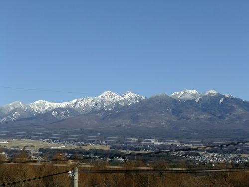 nagano snow mountain hakuba mountain range