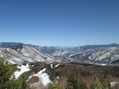 nagano japan snowy mountains