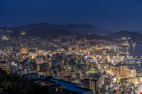 nagasaki night view japan's three major night view