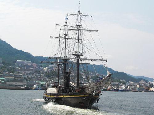 nagasaki nagasaki port sailing ship