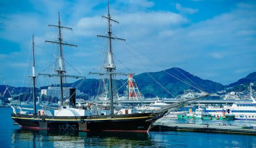nagasaki the port city of nagasaki sailboat