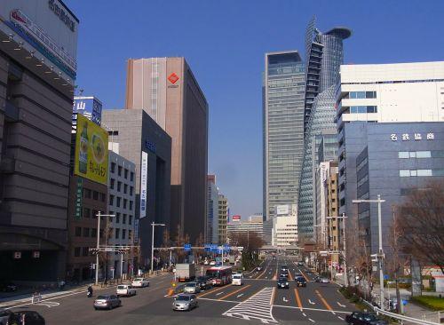 nagoya city japan skyscrapers