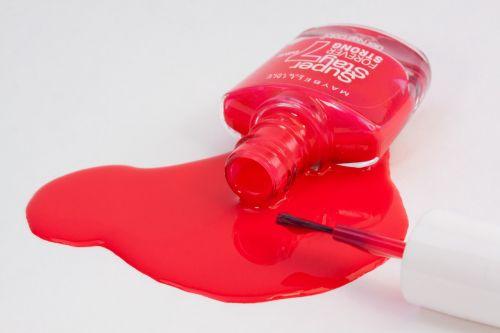 nail varnish red paint