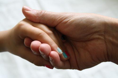 nails hands together holding hands