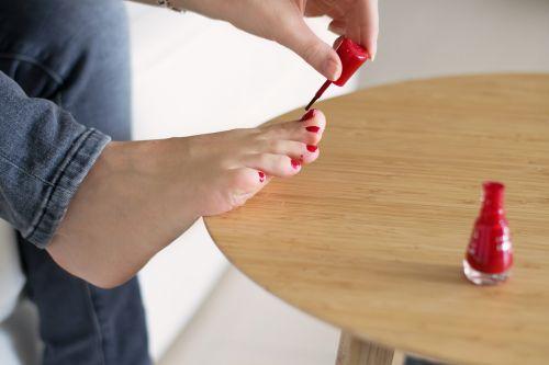 nails foot make up