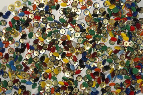 nails colorful thumbtack