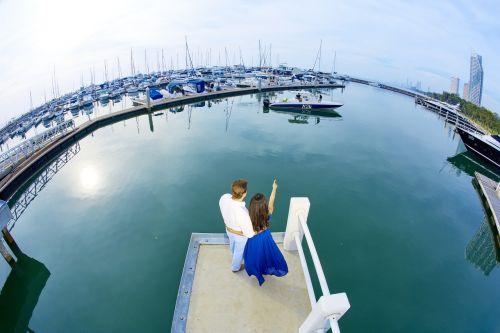 najomtien beach wedding shooting ocean marina yacht club pattaya