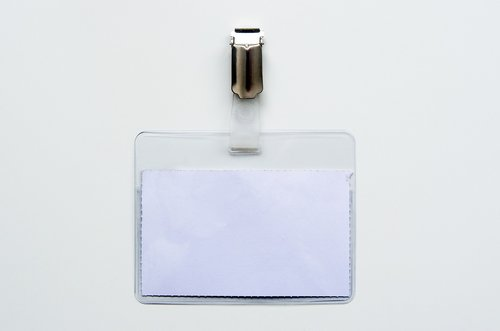 name tag  plastic  card holder