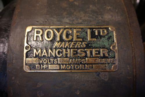 nameplate motor manufacturing