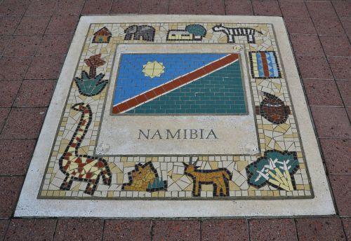 namibia team emblem flag