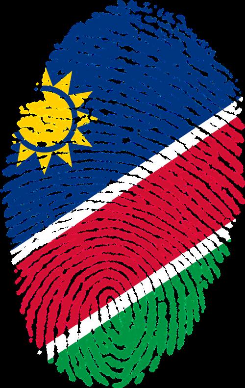 namibia flag fingerprint