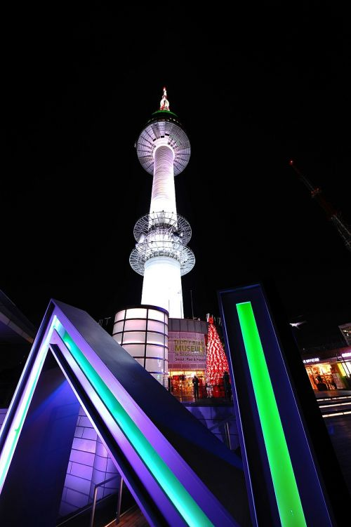 namsan tower night view