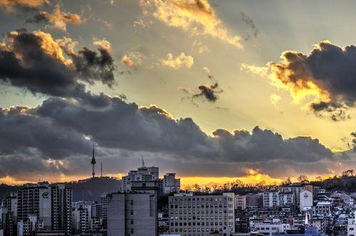 namsan tower seoul sky