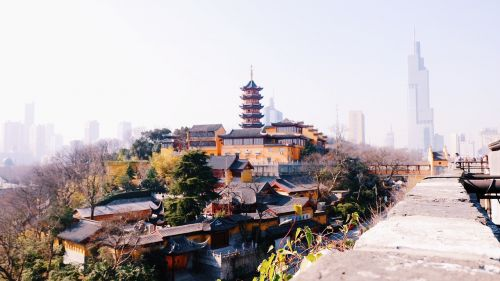 nanjing temple the city walls