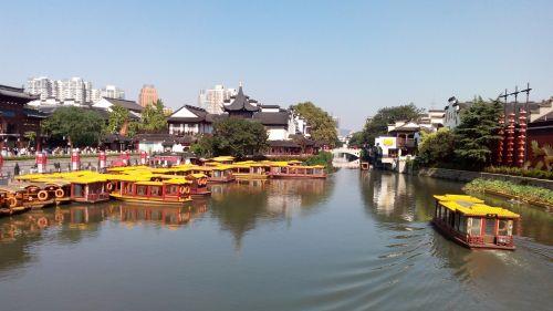 nanjing confucius temple qinhuai river