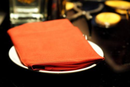 napkins hand towel red