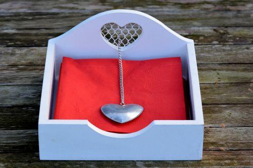 napkins napkins holder heart