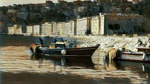 naples boat painting
