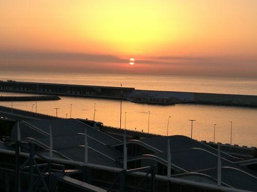 naples sea sunrise