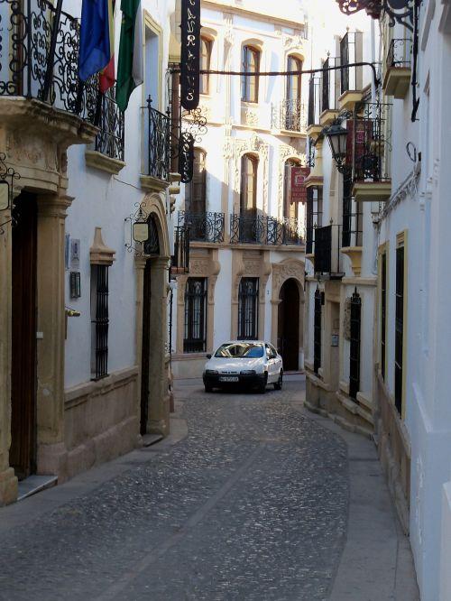 narrow street spain