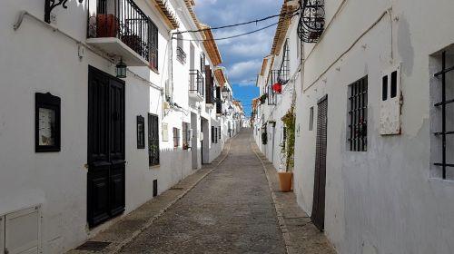 narrow town vanishing point