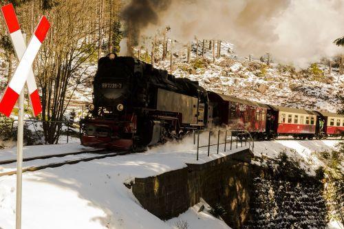 narrow gauge railway snow winter