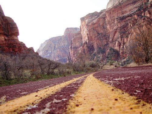 Nacionalinis parkas,Nacionalinis parkas,usa,zion,kelias,raudona,tinklas,geltona,kalnas,kalnai