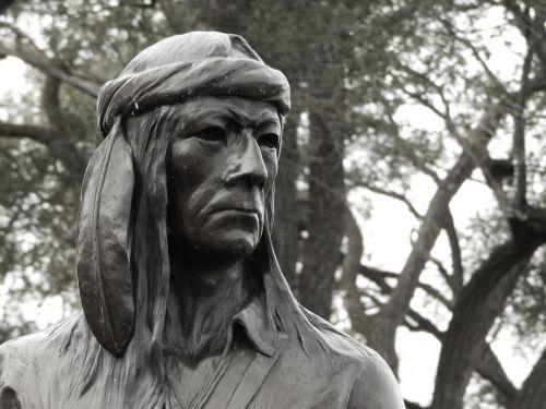 native american statue historical
