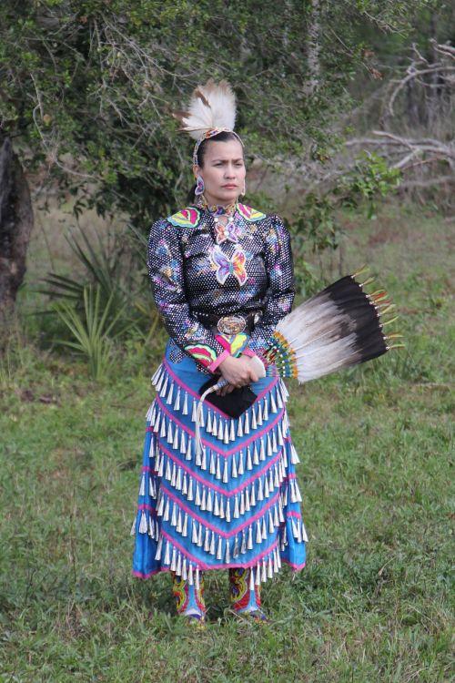 native american dancer costume