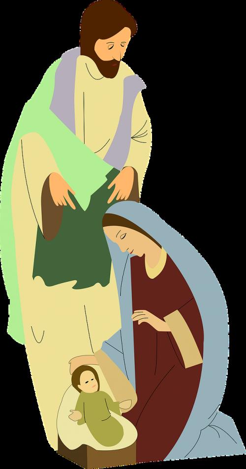 nativity scene mary