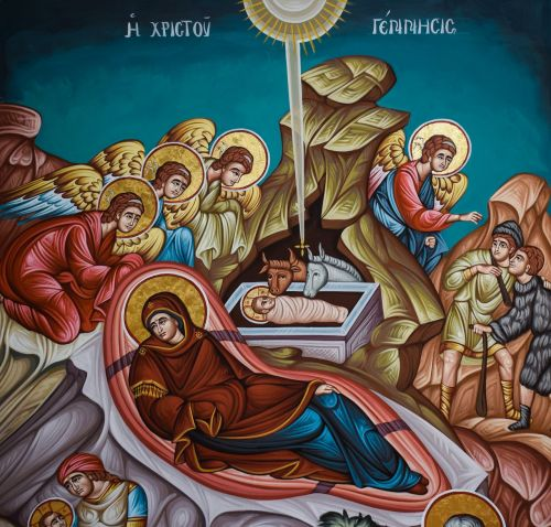 nativity scene the birth of christ iconography