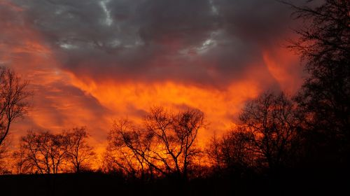 natural phenomenon sunset weather phenomenon