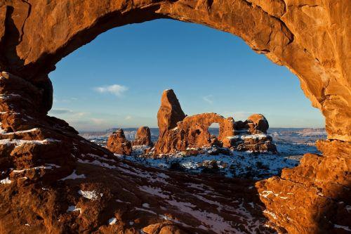 Natural Sandstone Arch Landscape