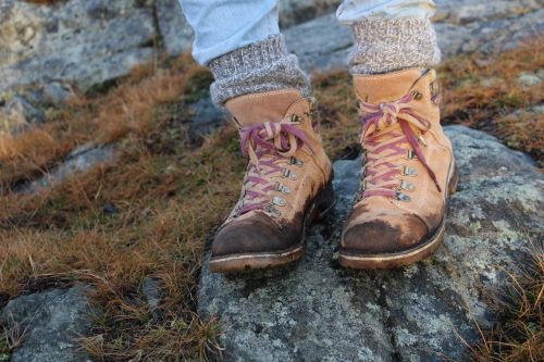 leather shoes hiking shoes nature