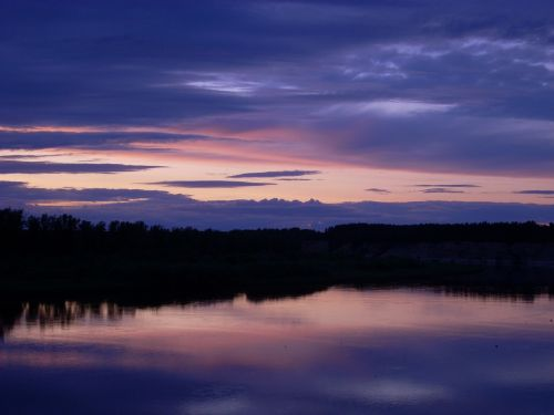 nature water sunset
