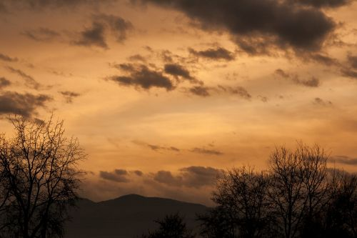 nature landscape sunset