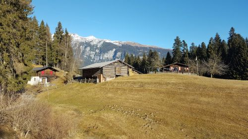 nature idyll alpine hut