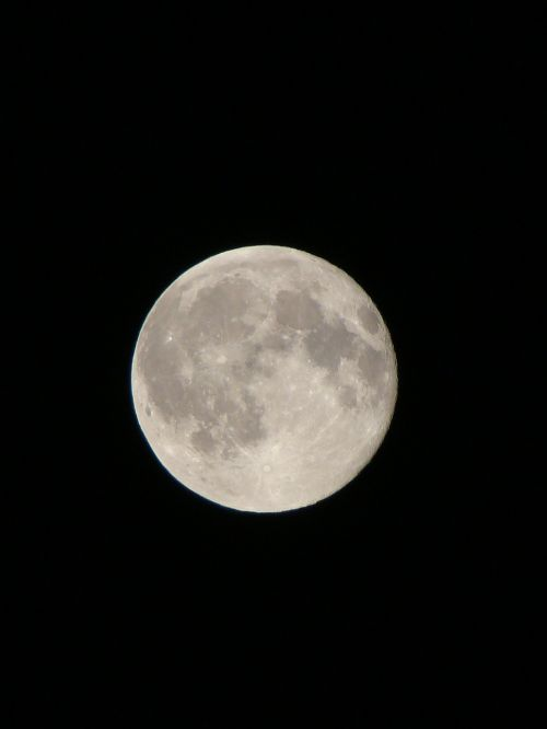 evening air full moon