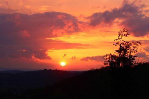 nature sunset hesse