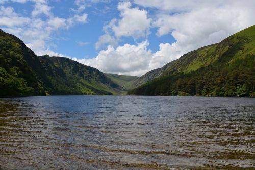 gamta,glendalough,rezervas,viršutinis ežeras