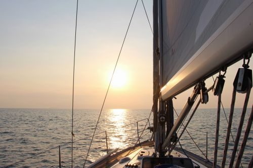 nature sea yacht