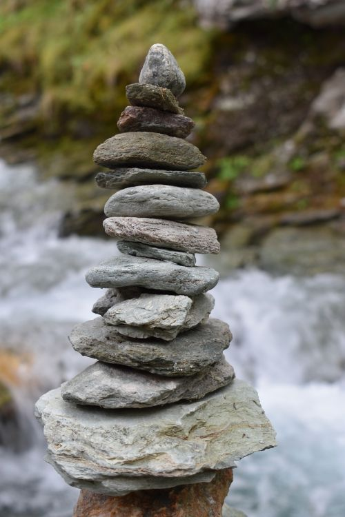 nature stone tower meditation